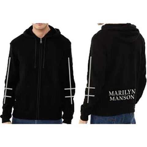 Marilyn Manson - Cross Logo Zip Hoodie (UK Import)