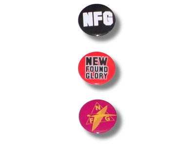 New Found Glory - 3 Pinback Button Pack