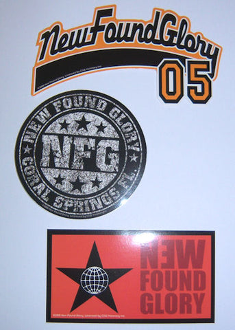 New Found Glory - Logo Sticker Set Pack
