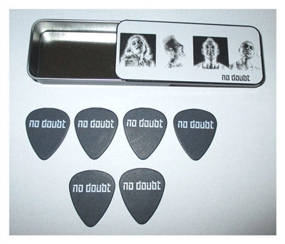 No Doubt - Guitar Pick Set In Slide-Top Tin