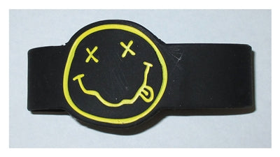 Nirvana - Smiley Face Rubber Bracelet Wristband