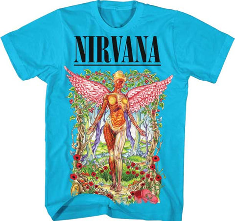 Nirvana - Forest In Utero Aqua T-Shirt