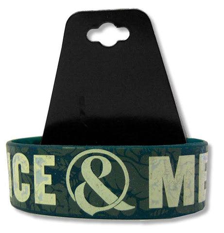 Of Mice & Men - Floral Overlay Silicone Wristband