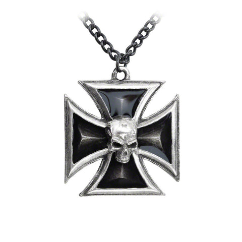 Black Knight's Cross Pendant Necklace (UK Import)