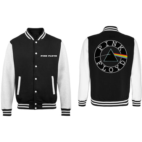 Pink Floyd - Dark Side Of The Moon Circle Varsity Jacket (UK Import)