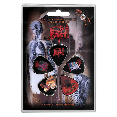 Death - Guitar Pick Set - 5 Picks - UK Import - Licensed New In Pack