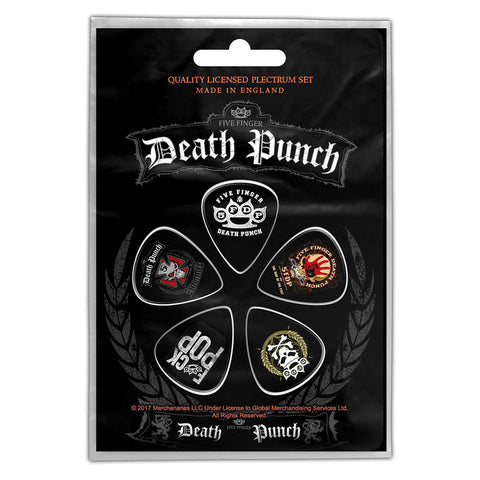 Five Finger Death Punch - Guitar Pick Set - 5 Picks - UK Import - Licensed New In Pack