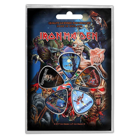 Iron Maiden - Later Albums Guitar Pick Set - 5 Picks - UK Import - Licensed New In Pack