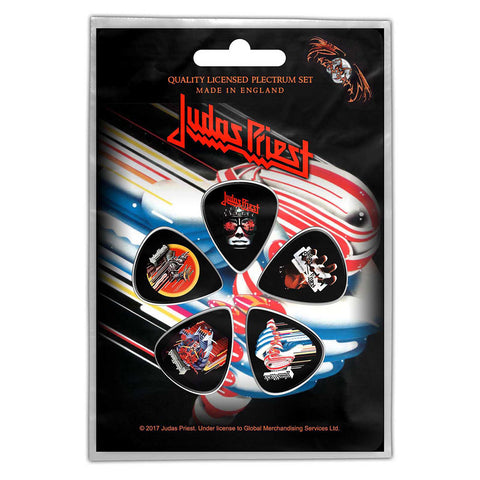 Judas Priest - Guitar Pick Set - 5 Picks - UK Import - Licensed New In Pack