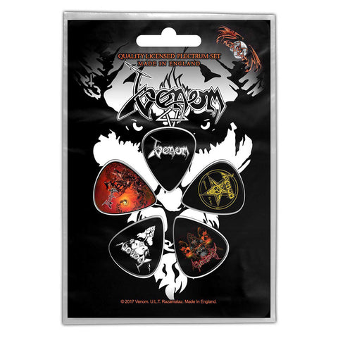 Venom - Guitar Pick Set - 5 Picks - UK Import - Licensed New In Pack