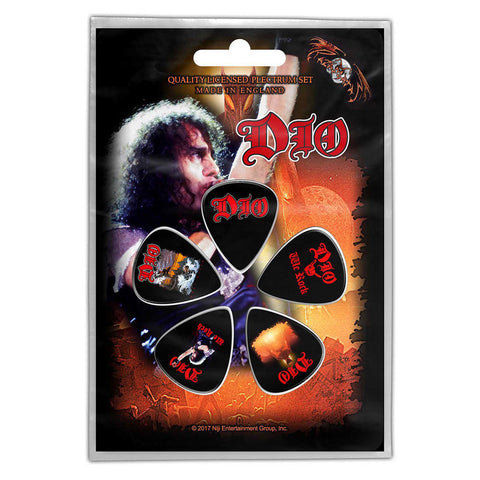 Dio - Guitar Pick Set - 5 Picks - UK Import - Licensed New In Pack