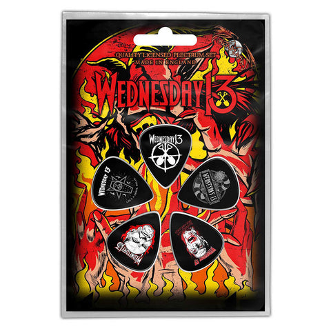 Wednesday 13 - Guitar Pick Set - 5 Picks - UK Import - Licensed New In Pack