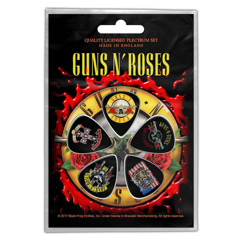 Guns N Roses - Guitar Pick Set - 5 Picks - UK Import - Licensed New In Pack