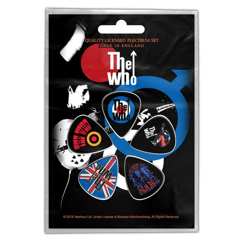 The Who - Guitar Pick Set - 5 Picks - UK Import - Licensed New In Pack