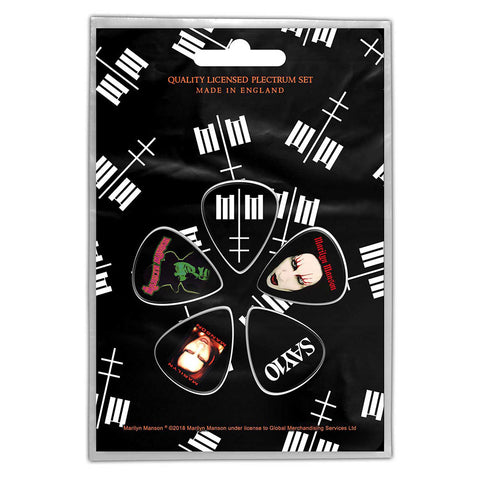 Marilyn Manson - Guitar Pick Set - 5 Picks - UK Import - Licensed New In Pack