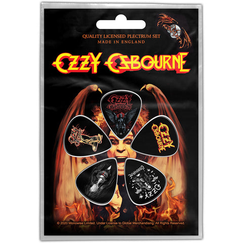 Ozzy Osbourne - Guitar Pick Set - 5 Picks - UK Import - Licensed New In Pack