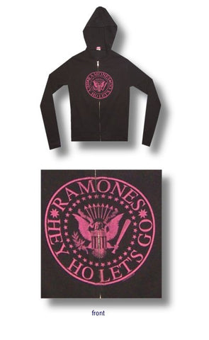 Ramones - Hey Ho Juniors Girly Zip Up Hoodie