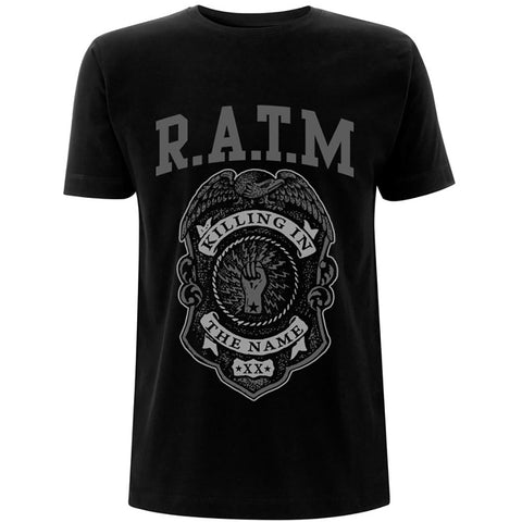 Rage Against The Machine - Grey Police Badge T-Shirt (UK Import)