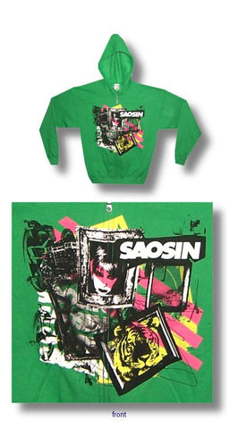 Saosin - Collage Zip Up Hoodie
