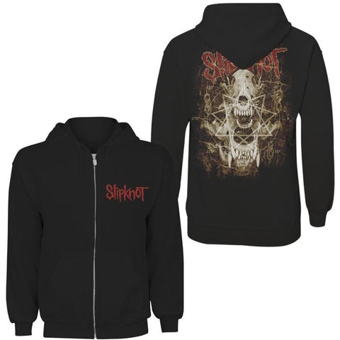 Slipknot - Skull Teeth Zip Hoodie (UK Import)
