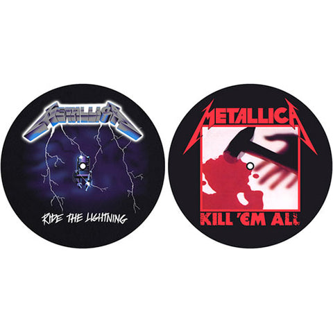 Metallica - Kill 'Em All - Lightning - DJ Turntable Slipmat Set (UK Import)