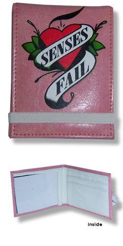 Senses Fail - Heart Leather Fold Wallet
