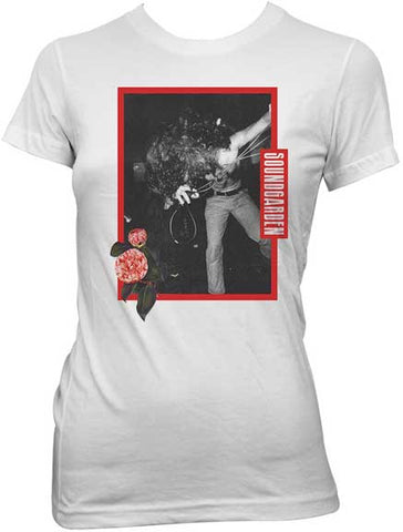 Soundgarden - Microphone Roses Juniors Girly Tee