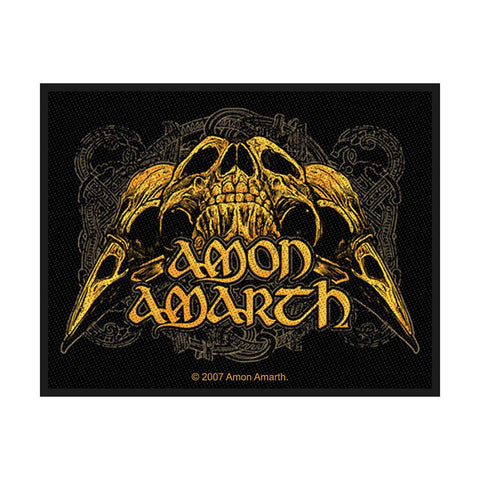 Amon Amarth - Patch - Woven - UK Import - Raven Skull - Collector's Patch