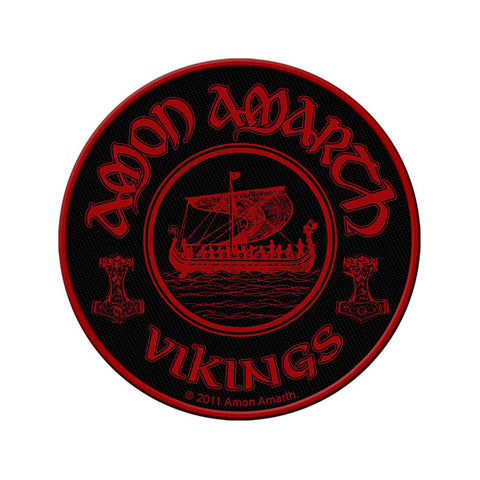 Amon Amarth - Patch - Woven - UK Import - Vikings Circular - Collector's Patch