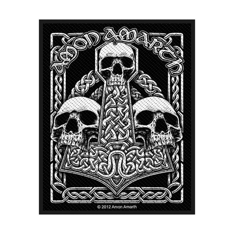 Amon Amarth - Patch - Woven - UK Import - Three Skulls - Collector's Patch
