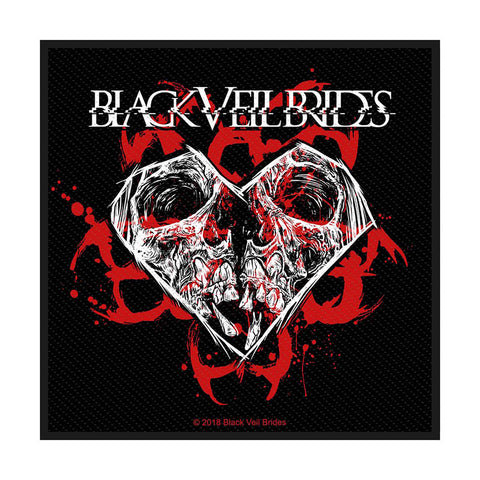 Black Veil Brides - Patch - Woven - Skull & Heart - UK Import - Collector's Patch
