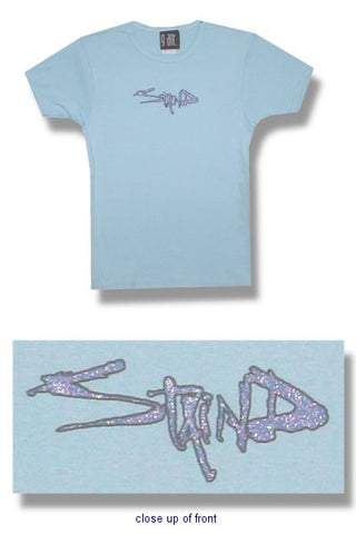 Staind - Blue Logo Juniors Girly Babydoll Tee