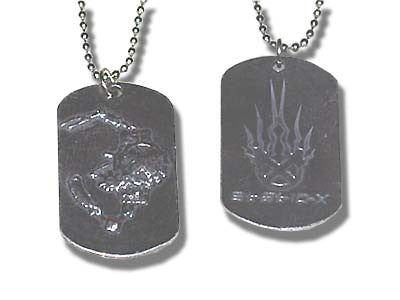 Static-X - Pewter Dogtag Necklace