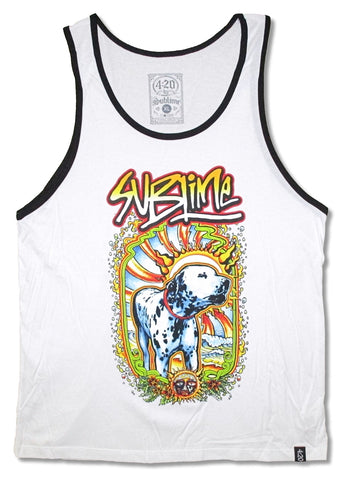 Sublime - Dalmation In Rays Ringer Tank Top