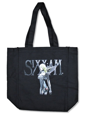 Sixx A.M. - Cyborg Woman Tote Bag