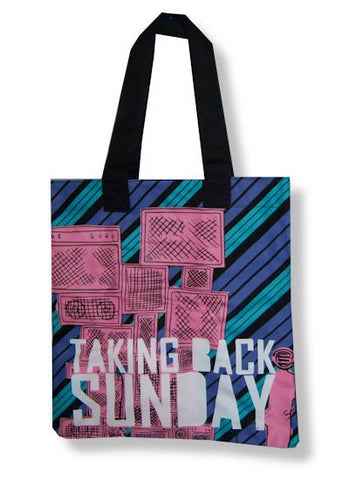 Taking Back Sunday - Stripes & Stacks Tote Bag