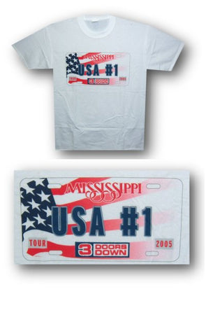 3 Doors Down - USA #1 T-Shirt