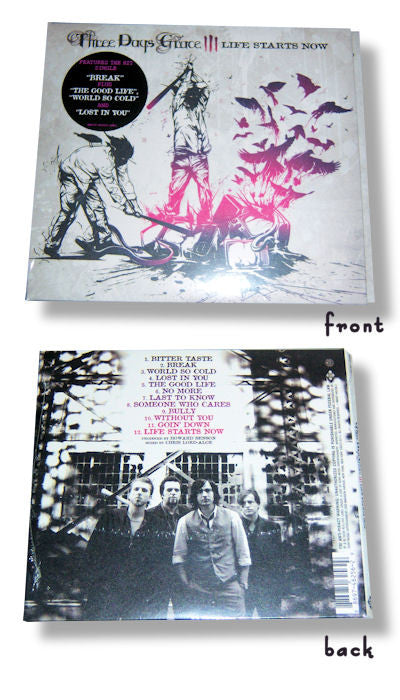 Three Days Grace Life Starts Now Cd Rock Merch Universe