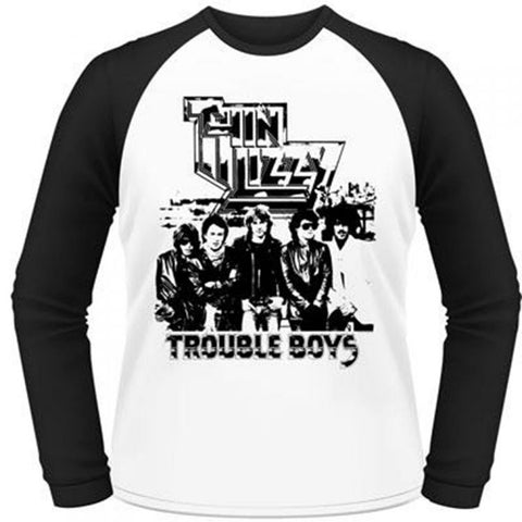 Thin Lizzy - Trouble Boys Baseball Jersey Tee