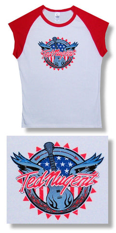 Ted Nugent - Guitar Sleeveless Juniors Babydoll Girly Tee