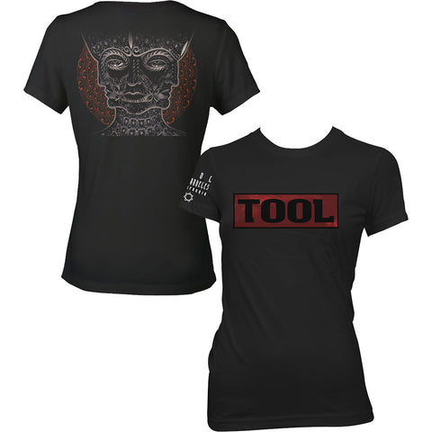 Tool - Shaded Box Logo Ladies Girly Tee (UK Import)