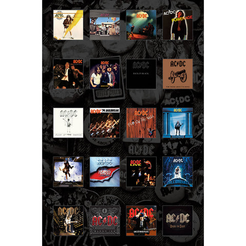 AC/DC - Albums - Textile Poster Flag (UK Import)