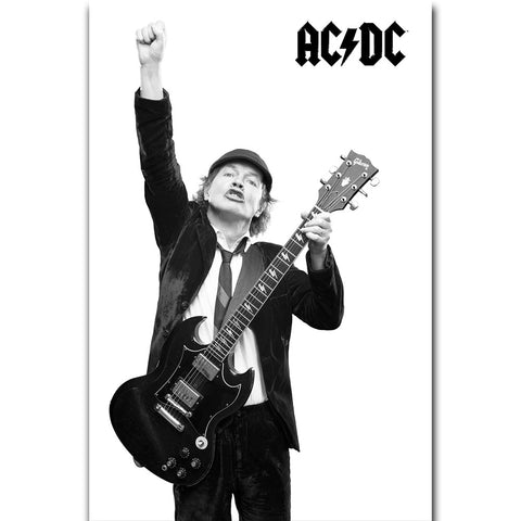 AC/DC - Angus With Guitar - Textile Poster Flag (UK Import)