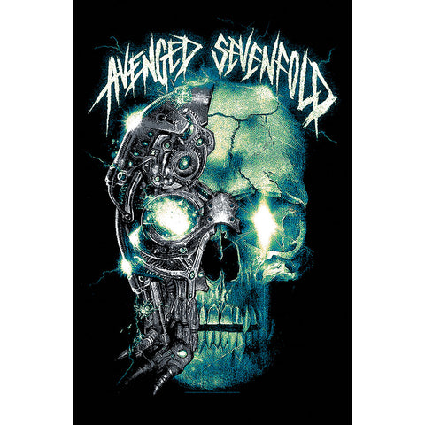 Avenged Sevenfold - Mechanical Skull - Textile Poster Flag (UK Import)