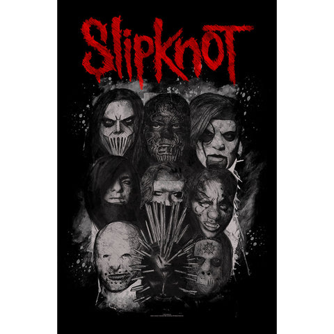 Slipknot - Masks - Textile Poster Flag (UK Import)