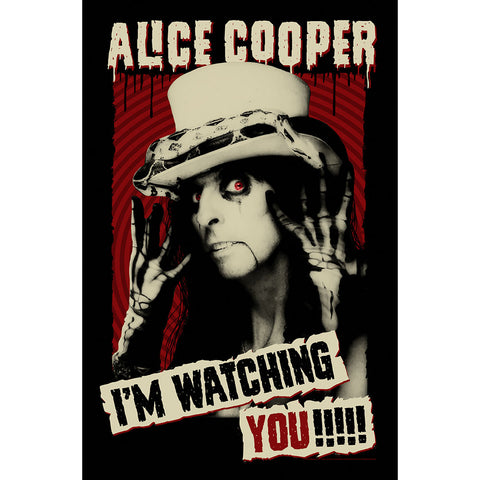 Alice Cooper - I'm Watching You - Textile Poster Flag (UK Import)