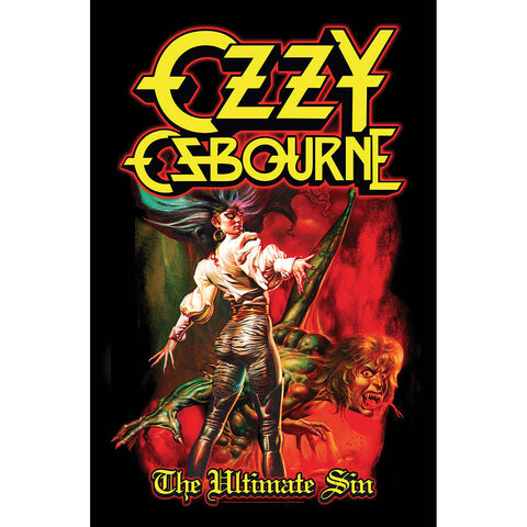 Ozzy Osbourne - The Ultimate Sin - Textile Poster Flag (UK Import)
