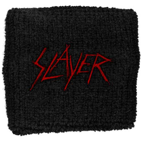 Slayer - Red Black Cloth Logo Sweatband (UK Import)
