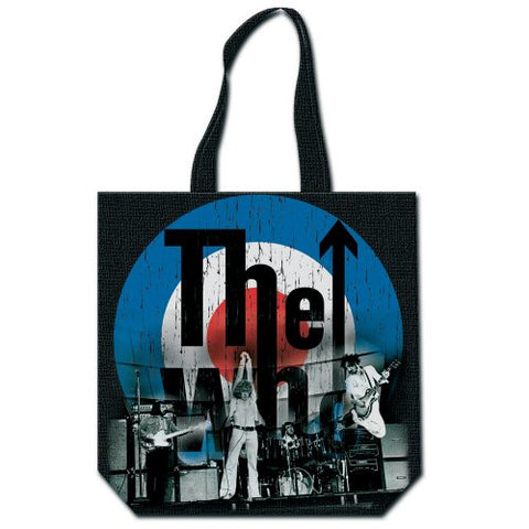 The Who - Target With Zip Top Cotton Tote Bag (UK Import)
