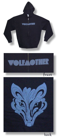 Wolfmother - Flaming Wolf Zip Up Hoodie